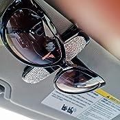 Kristall Auto Sonnenblende Sonnenbrille Halter Clip Universal Diamond Ticket Card Clamp Verschluss Clip Auto Brille Halter,Crystal Car Sun Visor Sunglasses Holder,Suitable for All Glasses,Sunglasses