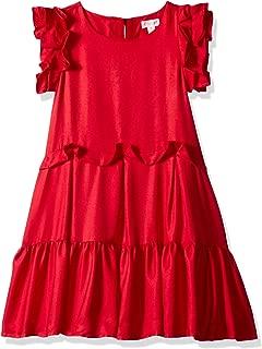 Girls' Big Sleeveless Dressy Woven Dress