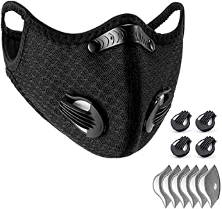 WISREMT Cycling Face Mask, Nylon Spandex Activated Carbon Windproof Dust-Proof Lightweight Breathable Quick Dry Outdoor Sp...