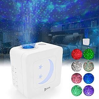 AETKFO Lámpara Proyector Estrellas Luz Nocturna Luces de Proyección para Niños Lámpara de Proyección Romántico Color Luz de Noche para Decorar, Fiesta, Cumpleaños