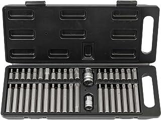 """Kraftbitssats 40 delar med extra långa bits och bitshållare 1/2"""" och 3/8"""" från Wiesemann 1893 I Torxbits T20–T55 I Fyrkant..."""