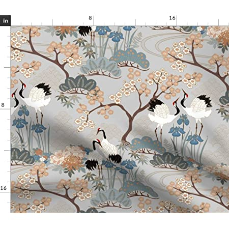 Set of 4 Chinoiserie Cloth Placemats by Spoonflower Koi Fish Placemats - Japanese Water Garden by
