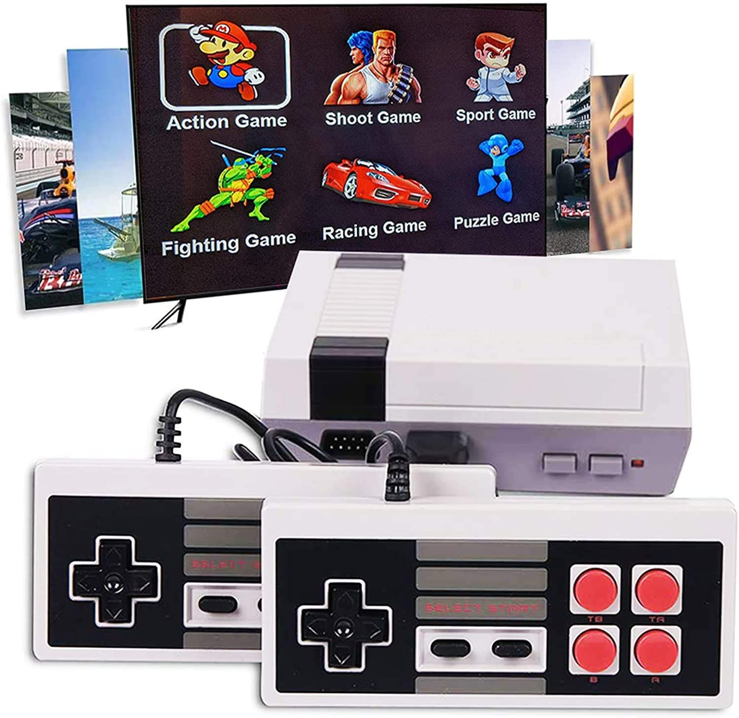 620 Retro Classic Video Game Console AV Output Mini Console 620 in 1 Built-in Plug and Play Video Games,is an Ideal Gift Choice for Children and Adults (Set 02): Toys & Games