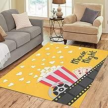 Pinbeam Area Rug Popcorn Popping Big Movie Reel Ticket Admit One Home Decor Floor Rug 2' x 3' Carpet