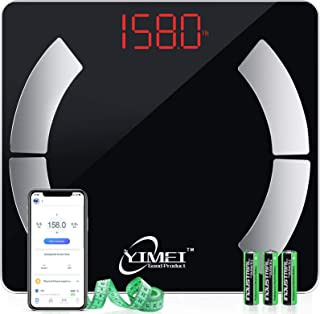 Scale for Body Weight, Smart Bluetooth Composition Analyzer Body Fat Scale with Easy Read LCD Display, 0.2Kg/0.4Lb BMI Scale, Support Baby Mode, 396Lbs, Black