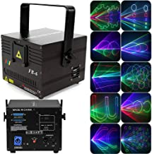 Animation Stage Party Projector Light, LYNICESHOP 1000mW RGB DMX 3D Animation DJ Show Light for Bands KTV Club Party Lighting Projector Show Wedding Stage More Than 100 Animation and Beam Effects