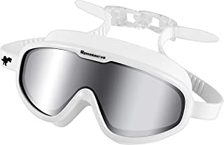 Spinosaurus Swim Goggles, Swimming Goggles-Fashionable Anti UV Wide Frame Swim Goggles with Comfortable Water Proof Seal & Easy Adjustable Anti Fog for Adult Men & Women Youth