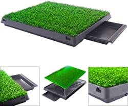 Quality Brand Dog Potty Home Training Toilet Pad Grass Surface Pet Park Mat Outdoor Indoor