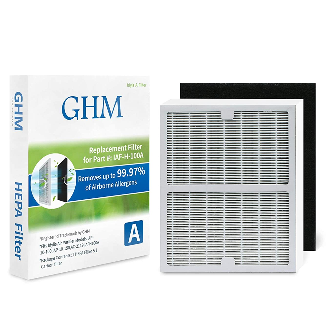 GHM Part # IAF-H-100A Replacement Idylis A Filter for Idylis Air Purifier Models AC-2119, IAP-10-100, APC-40-140, 2119 and IAP-10-150