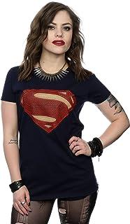 DC Comics Mujer Superman Man of Steel Logo Camiseta