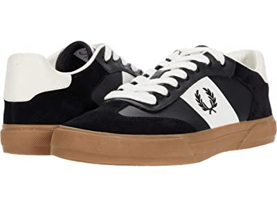 Fred Perry Clay Leather Suede (Black/Black) Men