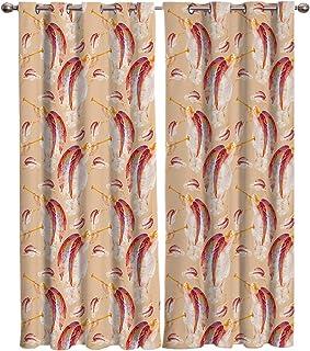 カーテン 翼 天使 カーテン遮光 セットカーテン 断熱 節電対策 防寒 一人暮らし 洗濯可 9サイズから選ベる 祝日プレゼント 幅135cm/丈135cm(1枚)2枚組
