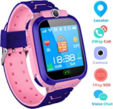 Kids Smart Watches Phone, SZBXD GPS Tracker Camera Touchscreen Smartwatch Games Flashlight SOS Alarm Clock Smart Wrist Watch Christmas Birthday Gifts for Girls Boys (Pink)