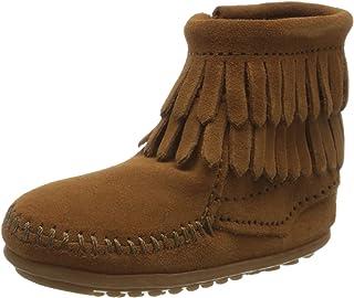 Minnetonka Double Fringe Bootie, Chaussures d'apprentissage Fille