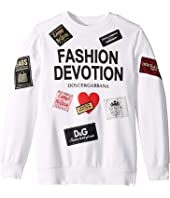 Dolce & Gabbana Kids - Fashion Devotion Sweatshirt (Big Kids)