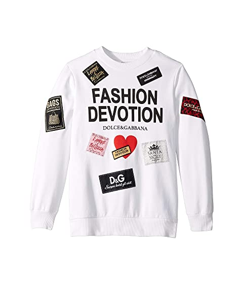 Dolce & Gabbana Kids Fashion Devotion Sweatshirt (Big Kids)