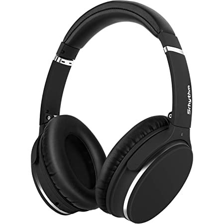 Srhythm Active Noise Cancelling Stereo Headphones Bluetooth 5.0,NC25 (Upgrated 2020) ANC Headset Over-Ear with Hi-Fi,Mic,50H Playtime,Voice Assistant,Low Latency Game Mode