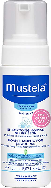 Mustela Foam Shampoo For Newborns Baby Shampoo Helps Prevent And Reduce Cradle Cap With Natural Avocado Perseose 5 07 Ounce