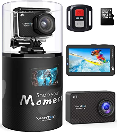 VanTop Moment 4 4K Sports Action Camera w/Touch Screen...