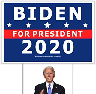 FYYZY Biden Harris 2020 Yard Sign 12x18 Inch President Election Politicial Campaign Signs with Metel H Stake for Outdoor Garden Lawn