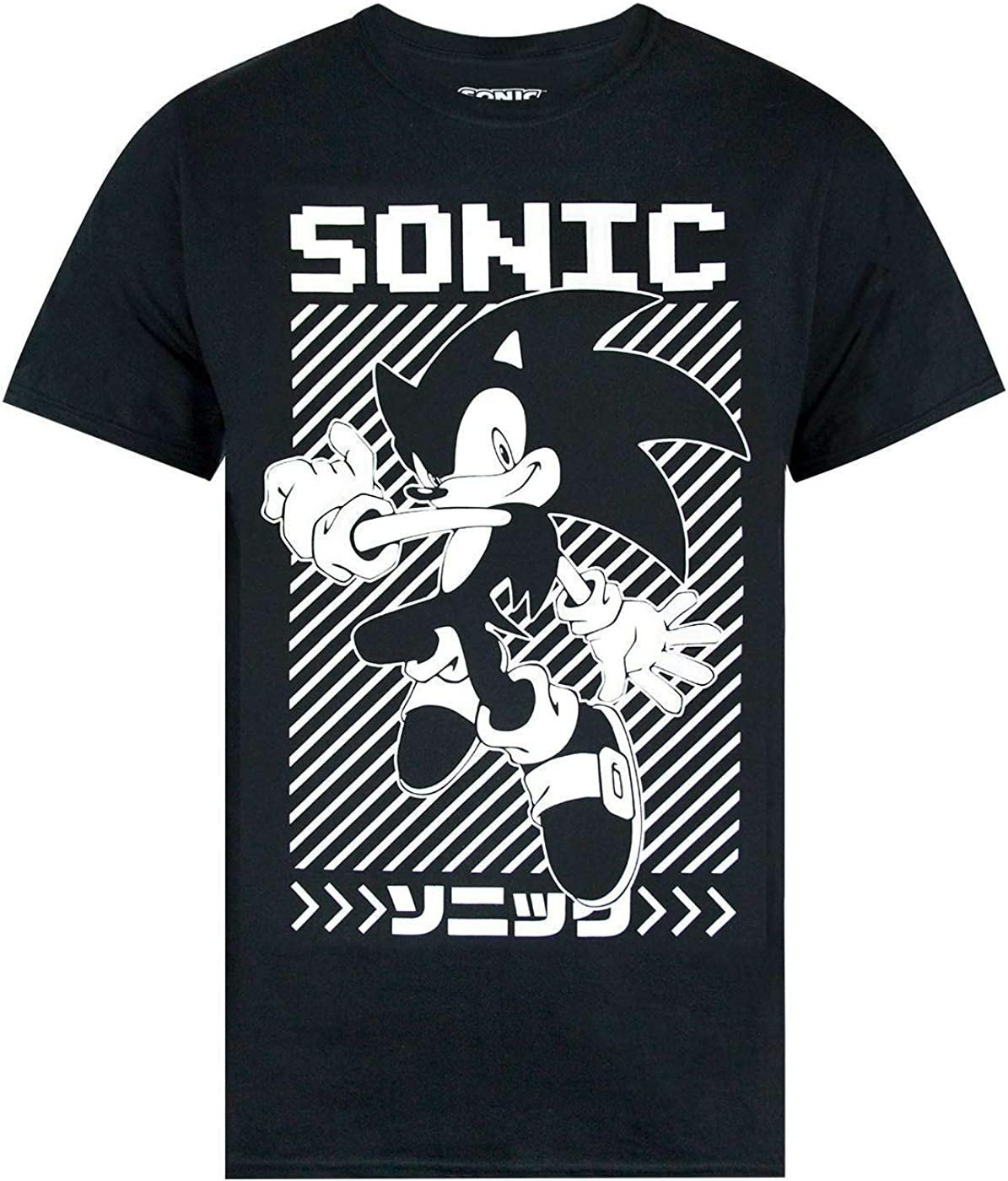 OKX Finally popular brand Sonic The Hedgehog Japanese Poster T-Shirt Super popular specialty store Men's Black