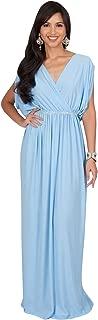 Womens Long Dolman Sleeve Wrap V-Neck Maternity Bridesmaid Maxi Dress