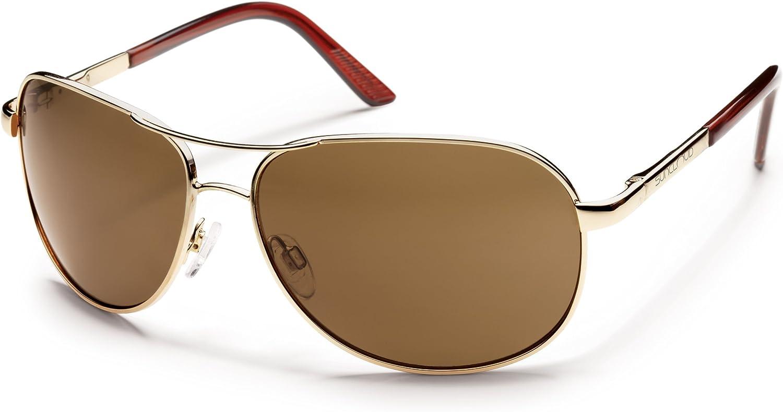 Suncloud Aviator Polarized Metal Sunglasses