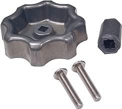 DANCO Universal Outdoor Faucet Water Spigot Handle | Hose Bibb Round Wheel Handle Replacement | Includes Screws | Metal | 2 Pack (10006P)