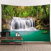 jtxqe Tapiz de impresión Digital tapices de Pared Toalla de Playa Paisaje Arroyo Agua Bosque Tapiz GUT-1053 200 * 150