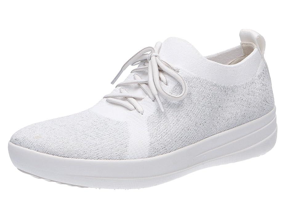 ワットインシデント水陸両用FitFlop(フィットフロップ) レディース 女性用 シューズ 靴 スニーカー 運動靴 F-Sporty Uberknit Sneakers - Metallic Silver/Urban White [並行輸入品]