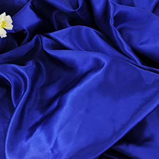 "Satin Fabric Royal Blue Color for Wedding Dress Decoration DIY Crafts 60"" by 1 Yard"