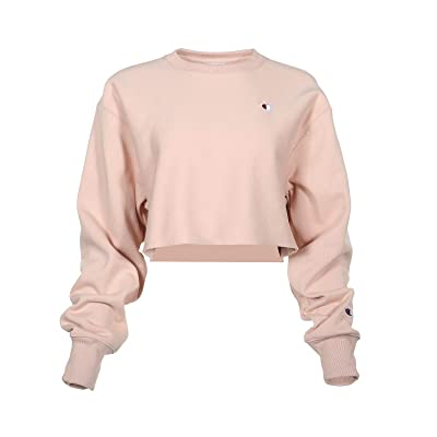 Champion LIFE Reverse Weave(r) Cropped Cut Off Crew (Spiced Almond Pink) Women