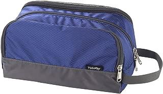Travel Toiletry Bag, Yeiotsy Light Dopp Kit Bag Shaving Bag Small Toiletry Organizer Blue (Sapphire)