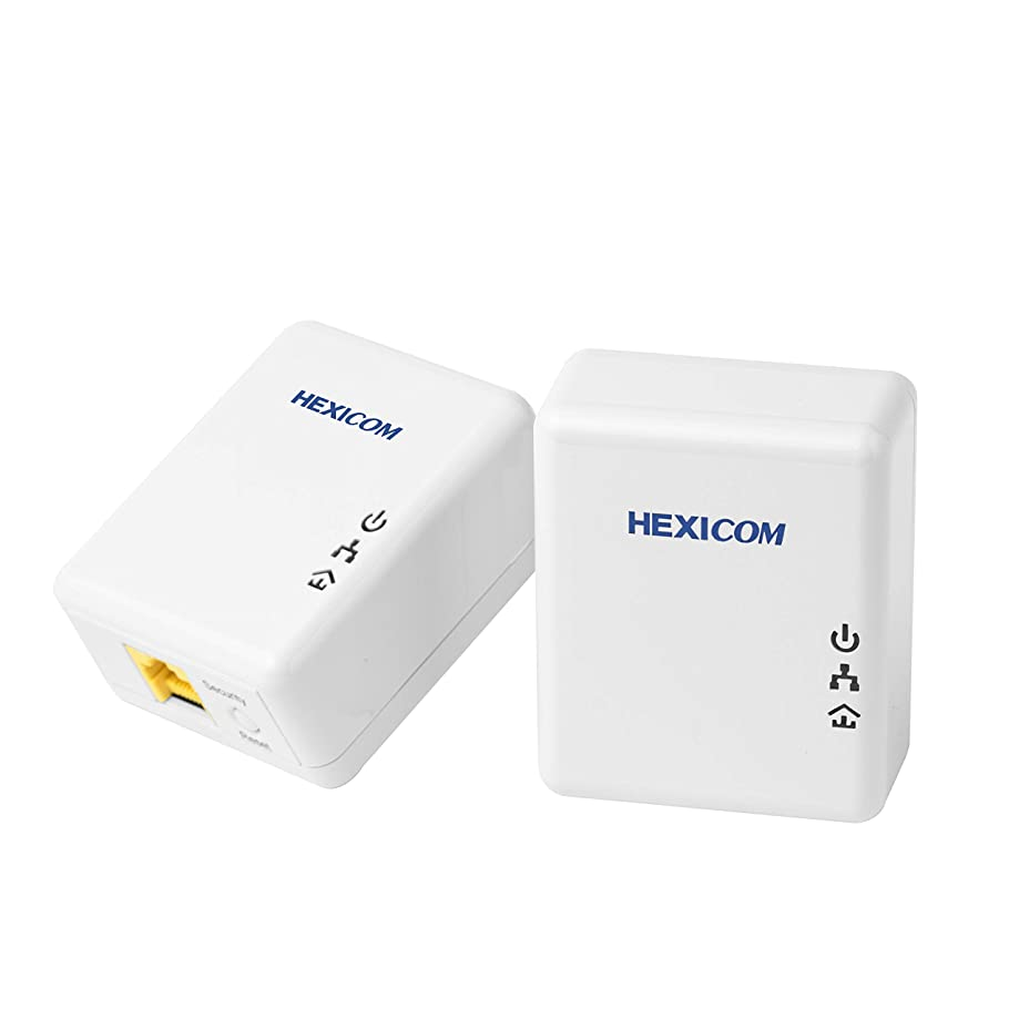HEXICOM Av 200 Mbps Powerline Ethernet Adapter Kit Homeplug Bridge PLC(PL200K)