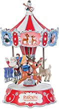 The Bradford Exchange Rudolph The Red-Nosed Reindeer Collectible Music Box with Spinning Carousel