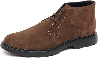 Hogan E0594 Polacchino Uomo Brown H304 New Ruote Derby Suede Boot Shoe Man
