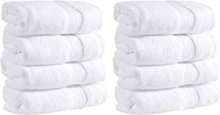 Mawill Cotton Hand Towels Set 8-Pack 16 x 28 inches, Extra Soft and Absorbent, Luxury Hotel Quality Spa Bathroom Hand Towe...