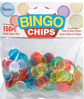 Darice Bulk Buy DIY Plastic Bingo Chips Assorted Colors 150 Pieces (24-Pack) 1096-68