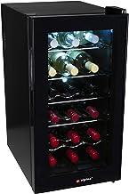 alpina Cave à Vin Réfrigérée - Réfrigérateur à Vin - Refroidisseur à Vin - 50 Litres - 18 Bouteilles - Noir