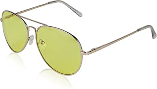 Aviator Glasses Unisex UV400 Protection Metal Framed Gold Eyeglasses By SunnyPro