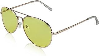 Aviator Glasses Unisex UV400 Protection Metal Framed Gold Eyeglasses By SunnyPro
