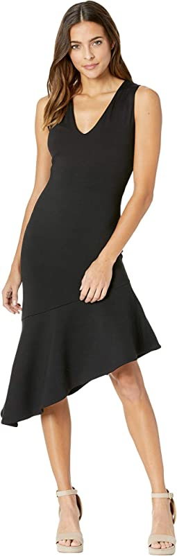 Low Neck Flare Hem Dress