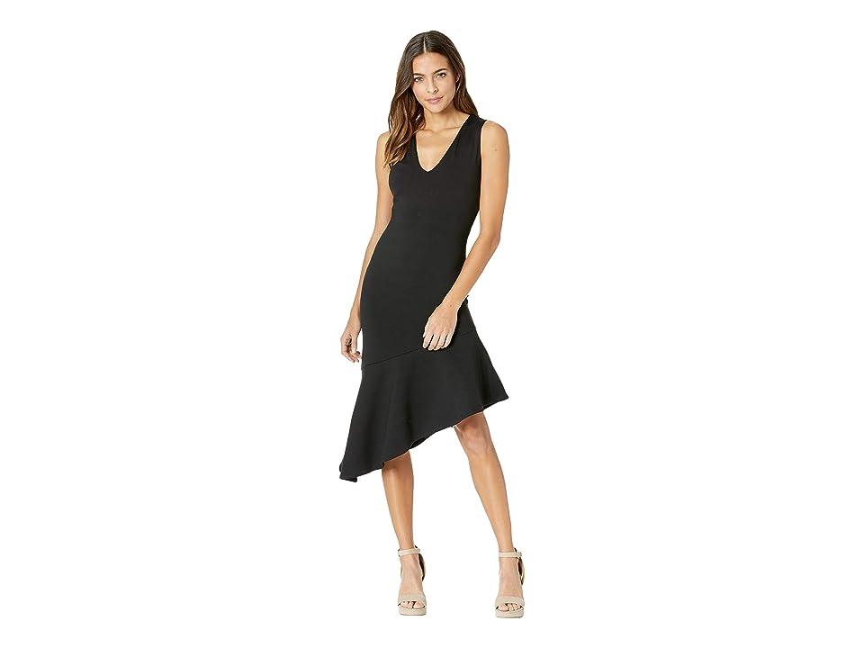 Susana Monaco Low Neck Flare Hem Dress (Black) Women