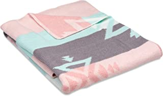 Lolli Living Knitted Receiving Blanket in Aztec. 100% Cotton Knitted Baby Blanket