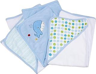 Spasilk 3-Pack Soft Terry Hooded Towel Set, Blue