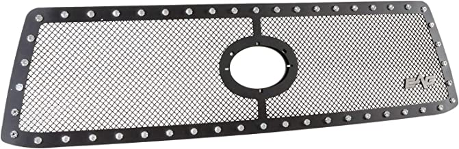 EAG Rivet Black Stainless Steel Wire Overlay Mesh Grille Fit for 10-13 Toyota Tundra