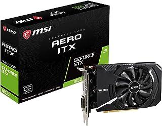 MSI Nvidia GeForce GTX 1650 Aero ICX 4G OC Tarjeta gráfica 4 GB GDDR5, 1740 MHz, Mini ITX Design, DisplayPort, HDMI, DVI-D, Sistema de refrigeración de Ventilador único