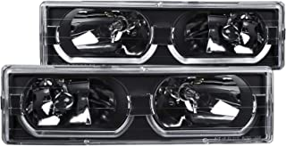 AnzoUSA 111299 Black/Clear Low-Brow Style Headlight for Chevrolet Full Size Truck