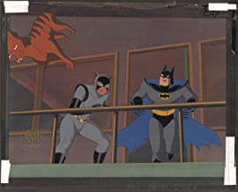 Batman The Animated Series Batman Catwoman Production Cel and Original Background Warner Bros BTAS 1995