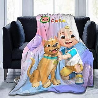 بطانية GIPHOJO Co-co-Melon – N-uròR-hymes فائقة النعومة من الصوف الصناعي الناعم رمي خفيفة الوزن للأطفال الأولاد والبنات وا...